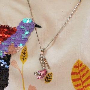 High Heal Necklace w/ Swarovski Crystals